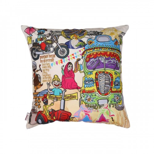 Multi Colour Canvas Digital Print Cushion Covers