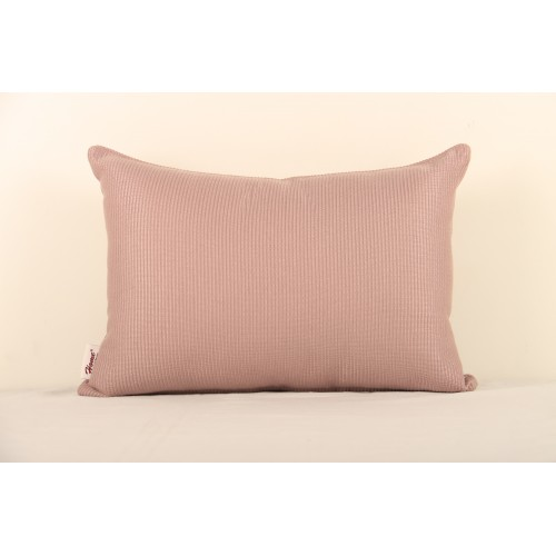 Cotton Ribbed Lilac Cushion Cover Size 12x18""