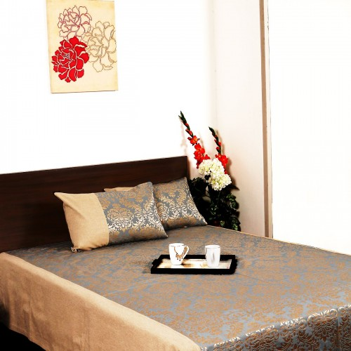 Damask Cotton Bedcover