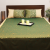 Green Hexagonal Cotton Jacquard Double Bedcover