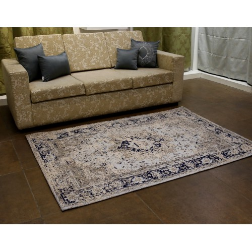 Cotton jacquard Rugs/Carpet/Mat Brown 3x5 Feet